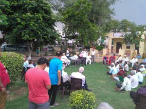Meeting of Sector 8 Villagers Against Enhancement sent by HUDA