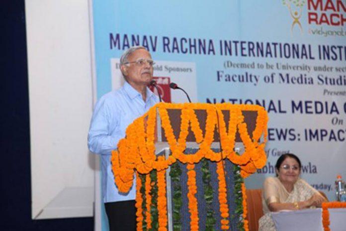 Prabhu Chawla in manav rachna international institute of research and studies