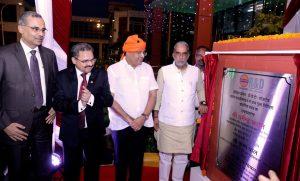 केंद्रीय राज्य मंत्री कृष्णपाल गुर्जर ने आई ओ सी -डी बी टी -लांजातेक पायलट प्लांट का उदघाटन किया