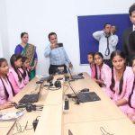 कन्या उच्च विद्यालय में मॉडल लैब का उद्घाटन