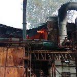 रेलवे पार्ट्स बनाने वाली कंपनी में लगी आग, लाखों का नुकसान