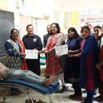राजकीय बाल वरिष्ठ माध्यमिक विद्यालय में रक्तदान शिविर का आयोजन