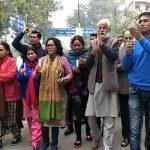 परशुराम चौक से तिरंगा चौक तक निकाला शांति मार्च