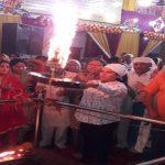 वैष्णोदेवी मंदिर में हुई स्कंदमाता की पूजा, महेंद्र प्रताप भी मां के दरबार में हाजिरी लगाने पहुंचे