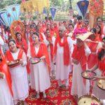 रामनवमी-यज्ञ महोत्सव की पूर्व संध्या पर विशाल शोभा-यात्रा का आयोजन