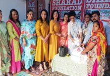 शरद फॉऊडेशन ने द्वितीय अन्न वितरण कार्यक्रम का किया आयोजन