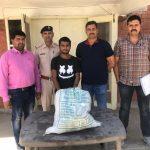 बड़खल टीम ने 5 किलो 600 ग्राम गांजा किया बरामद