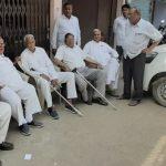 बल्लभगढ़ अनाज मंडी में भी दिखा आढ़तियों का ई -पोर्टल के विरोध में धरना
