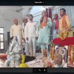 मंदिर में शिव परिवार की स्थापना
