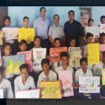 स्लोगन, पोस्टर और पेंटिंग से मतदान का दिया संदेश