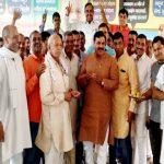 फरीदाबाद में 5 लाख से जीते कृष्णपाल गुर्जर, विधायक टेकचंद शर्मा ने समर्थकों संग मनाया जश्न