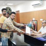 एनएसयूआई ने जिला उपायुक्त को सौंपा हरियाणा के मुख्यमंत्री के नाम ज्ञापन