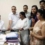 हरियाणा स्वास्थ्य कर्मचारी संघ मांगो को लेकर मुख्यमंत्री के नाम ज्ञापन दिया