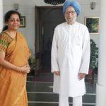 पूर्व प्रधानमंत्री मनमोहन से मिली ,वित्त मंत्री निर्मला सीतारमण