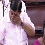 राज्यसभा से 5 सदस्यों की हुई विदाई, मैत्रेयन अपने विदाई भाषण के दौरान रो