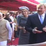 राष्ट्रपति भवन पहुंचे नीदरलैंड के राजा और रानी, राष्ट्रपति और मोदी ने किया स्वागत