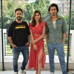 Ujda chaman starcast spotted promoting their movie in National Capital