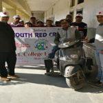 यूथ रेड क्रॉस इकाई द्वारा मनाया गया विश्व दिव्यांग दिवस