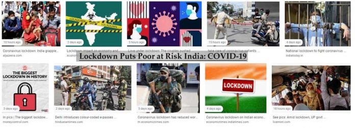 Lockdown Puts Poor at Risk India: COVID-19