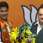 BJP के हुए ज्योतिरादित्य सिंधिया, जेपी नड्डा ने दिलाई पार्टी की सदस्यता