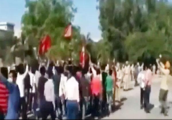 सहारनपुर में फूटा मजदूरों का गुस्सा, अंबाला हाईवे किया जाम
