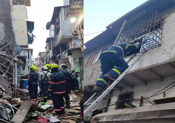 मुंबई : कांदिवली में अचानक गिरा जर्जर मकान, 12 लोग बचाए गए, रेस्क्यू जारी