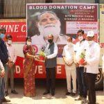 रक्तदान शिविर में 25 रक्तदाताओं ने किया रक्तदान