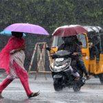 दिल्ली व अन्य राज्यों में आज भारी बारिश का अलर्ट