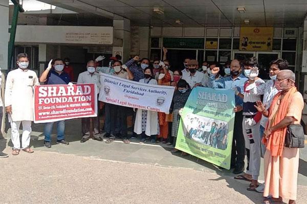 """शरद फाउंडेशन ने किया """"राष्ट्रव्यापी अभियान का आगाज, शहर के बी के हॉस्पिटल से की स्वच्छता अभियान की शुरुआत"""