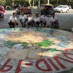 जज्बा फाउंडेशन ने कोरोना वायरस की जागरूकता के लिए बनाई रोड़ पेंटिंग