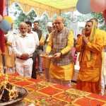 कैबिनेट मंत्री मूलचंद शर्मा ने सरस्वती पूजा में शिरकत की , एवं बल्लभगढ़ में चल रहे विभिन्न विकास कार्यों का औचक निरीक्षण किया