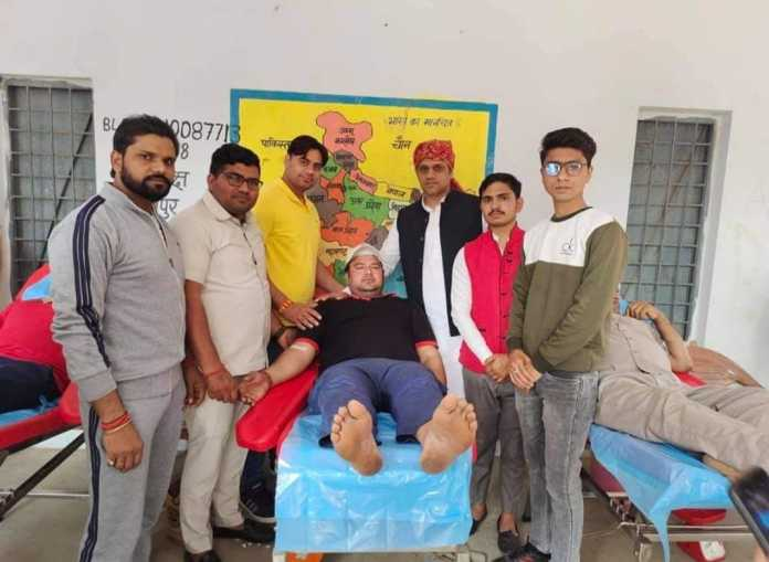 Tribute to the martyrs - Massive blood donation camp and free healthy check-up camp organized.