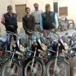 शातिर मोटरसाइकिल चोर गिरफ्तार, 5 वारदातें सुलझाई