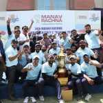 कॉरपोरेट किक्रेट चैलेंज संपन्न: मानव रचना की टीम ने एशियन अस्पताल को 2 रन से हराकर मैच जीता