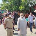 पुलिस कमिश्नर ओपी सिंह ने व्यापार मंडल फरीदाबाद के प्रधान जगदीश भाटिया के साथ किया बाजार का दौरा