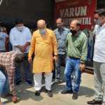 कैबिनेट मंत्री मूलचंद शर्मा ने की सडक़ बनाने के कार्य की शुरूआत