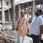 भाजपा नेता टिपरचंद शर्मा ने लिया महिला कालेज के निर्माण कार्य का जायजा