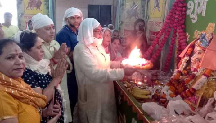 वैष्णोदेवी मंदिर में धूमधाम से की गई श्री गणपति उत्सव की धूम आरंभ