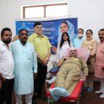 101 निरंकारी भक्तों ने किया स्वेच्छा से रक्तदान